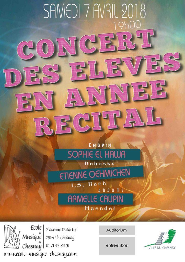 web concert des eleves en annee recital